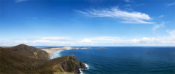 Panorama Cape Reinga in Neuseeland