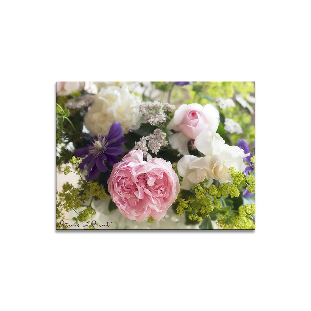 Leinwandbild Ein bunter Sommerblumenstrauß